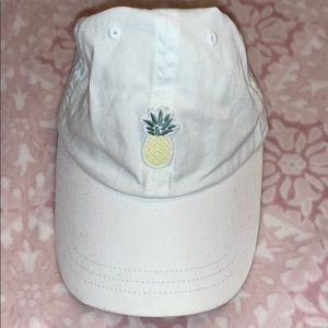Lightly worn white pineapple PINK hat
